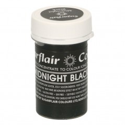 Sugarflair pastelová gelová barva - midnight black- 25g