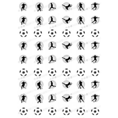 Sugar Stamp Pečící papír na sněhové pusinky - fotbal - A4