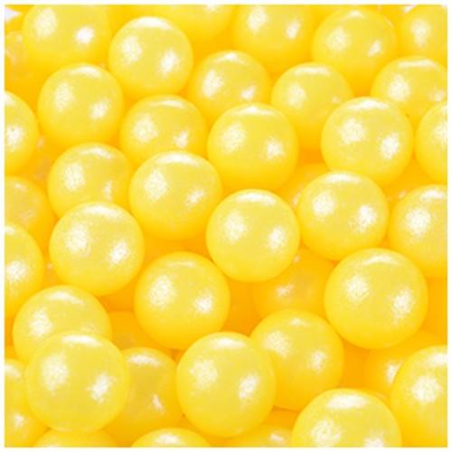Modecor cukrové perličky 9mm - žluté - 50g