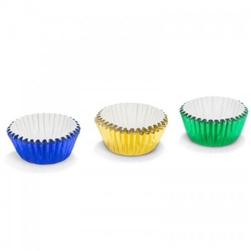 Patisse cukrářské MINI  košíčky 2,7 x 1,7cm - zelené / žluté / modré - 75ks