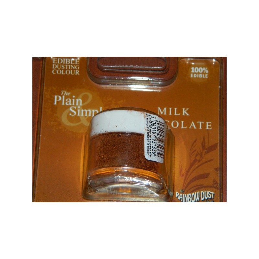 Prachová barva mléčná čokoláda Rainbow - Milk Chocolate