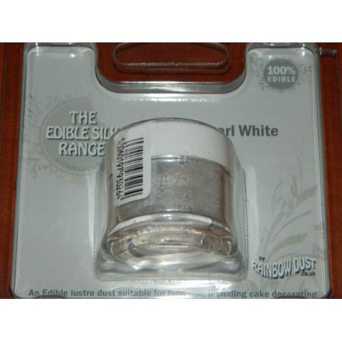 Puderfarbe perle Rainbow dust - Pearl white
