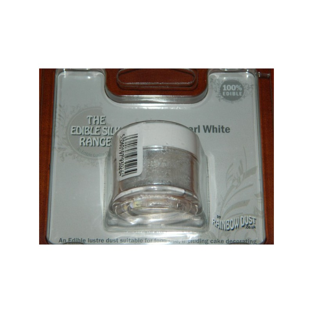 Prachová perleťová barva bílá Rainbow dust - Pearl white