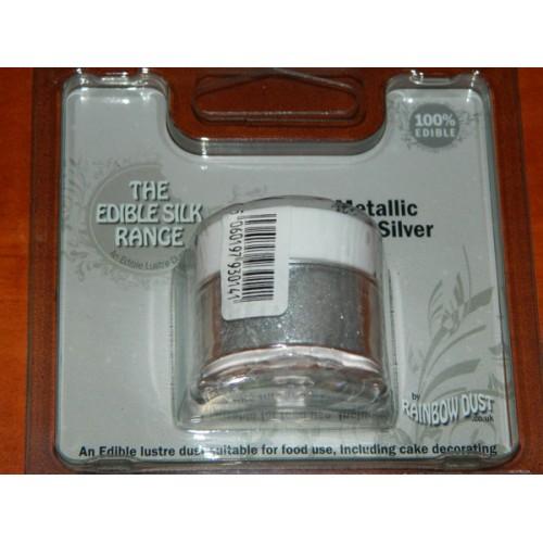 Prachová perleťová světlá stříbrná  Rainbow dust - Metallic Light Silver