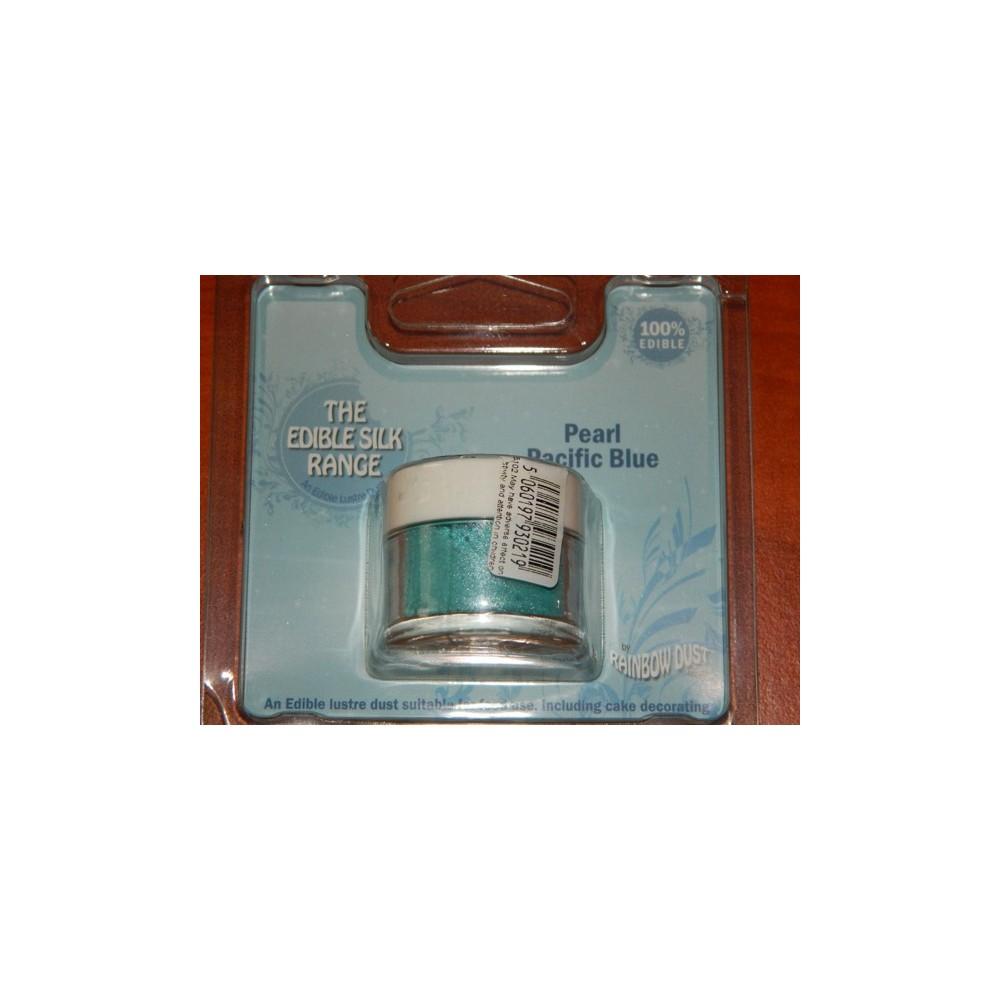 Prachová perleťová oceánová modrá Rainbow dust - Pearl Pacific Blue