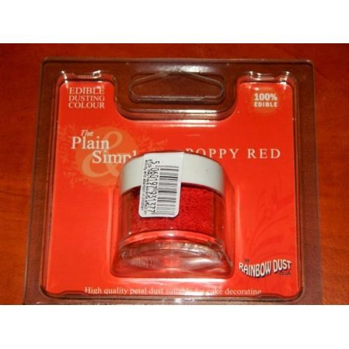 Prachová barva mák červený Rainbow - Poppy Red