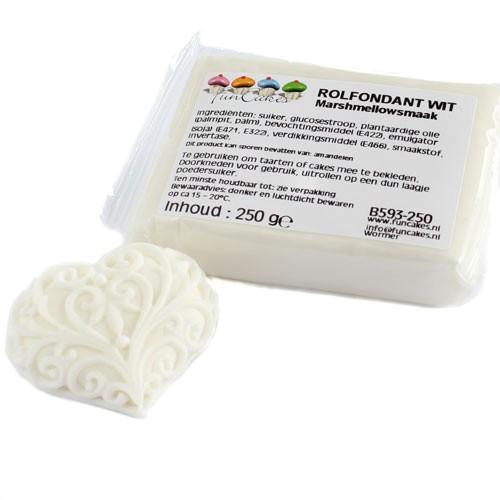 FunCakes poťahový fondán Marshmallow - biely 250gbílý
