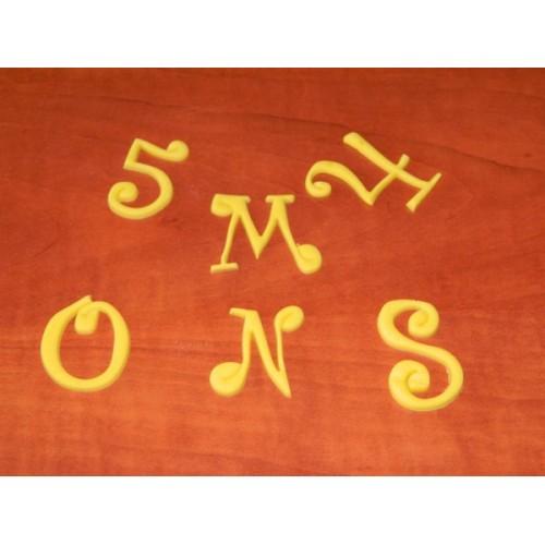Velká abeceda a čísla - Funky