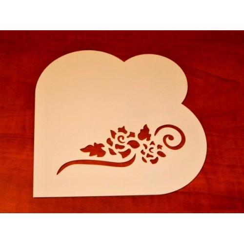 Torten Stencil - Contemporary Hearts