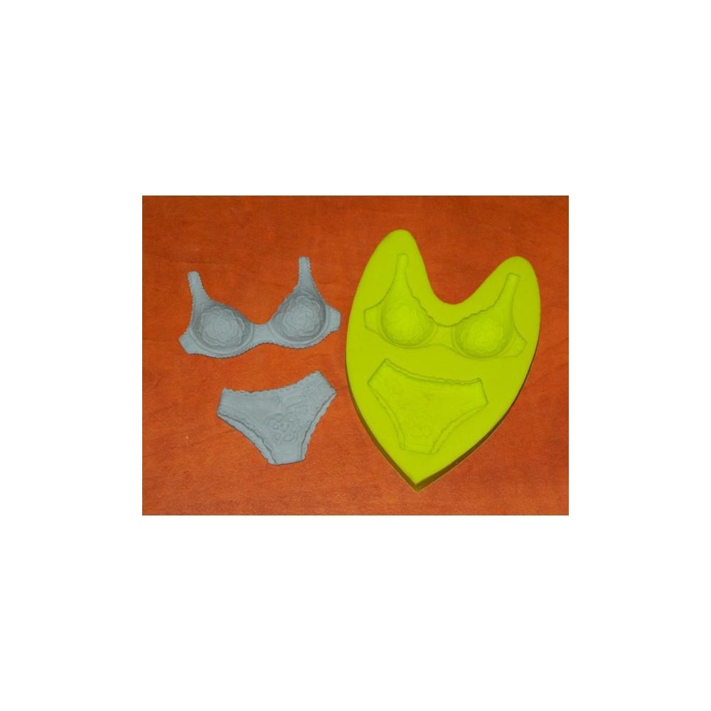 Silikonová forma - Krajkové spodní prádlo