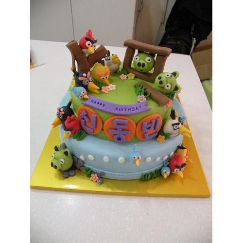 "Forma ""Angry Birds"" - Modrý"