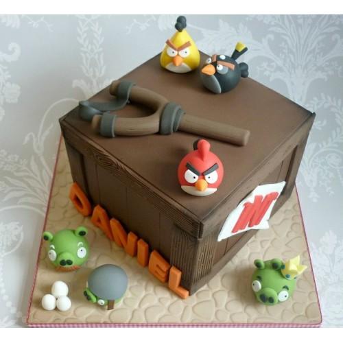 """Forma """"Angry Birds"""" - Černý"""