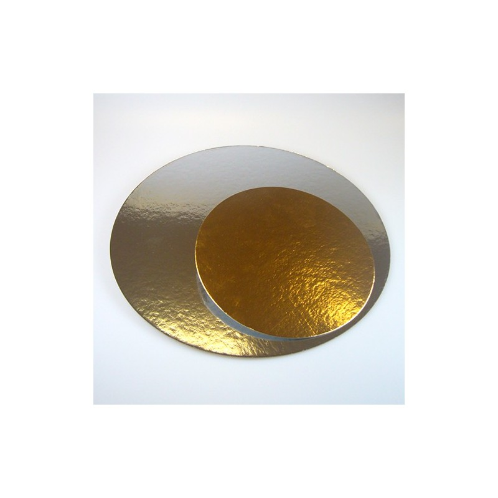 Tortenplatten in gold / silber, 3 Stück, 16cm