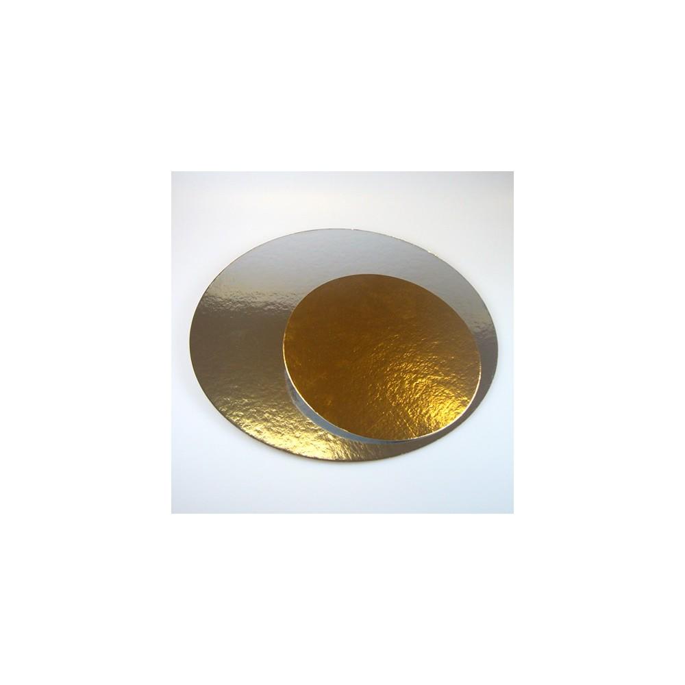 Podložka pod dort zlatá / stříbrná 16cm