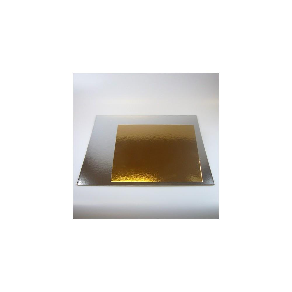 Podložka pod dort zlatá / stříbrná 20cm
