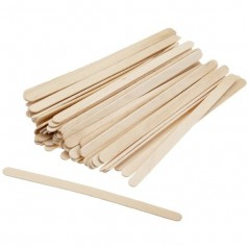 Ice-cream sticks wood flat, per 100