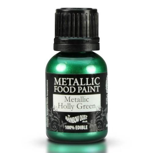 Metalická barva cesmínová zelená - Mettalic Holly Green 25ml