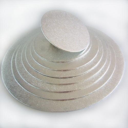 FunCakes kulatá podložka pod dort stříbrná 27cm/4mm