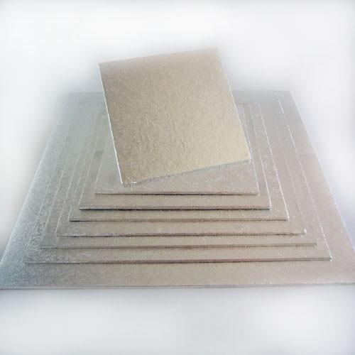 FunCakes štvorcová podložka pod tortu strieborná 22x22cm/4mm