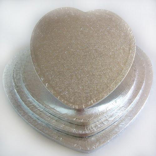 FunCakes  podložka pod dort stříbrná 22,5cm Srdce