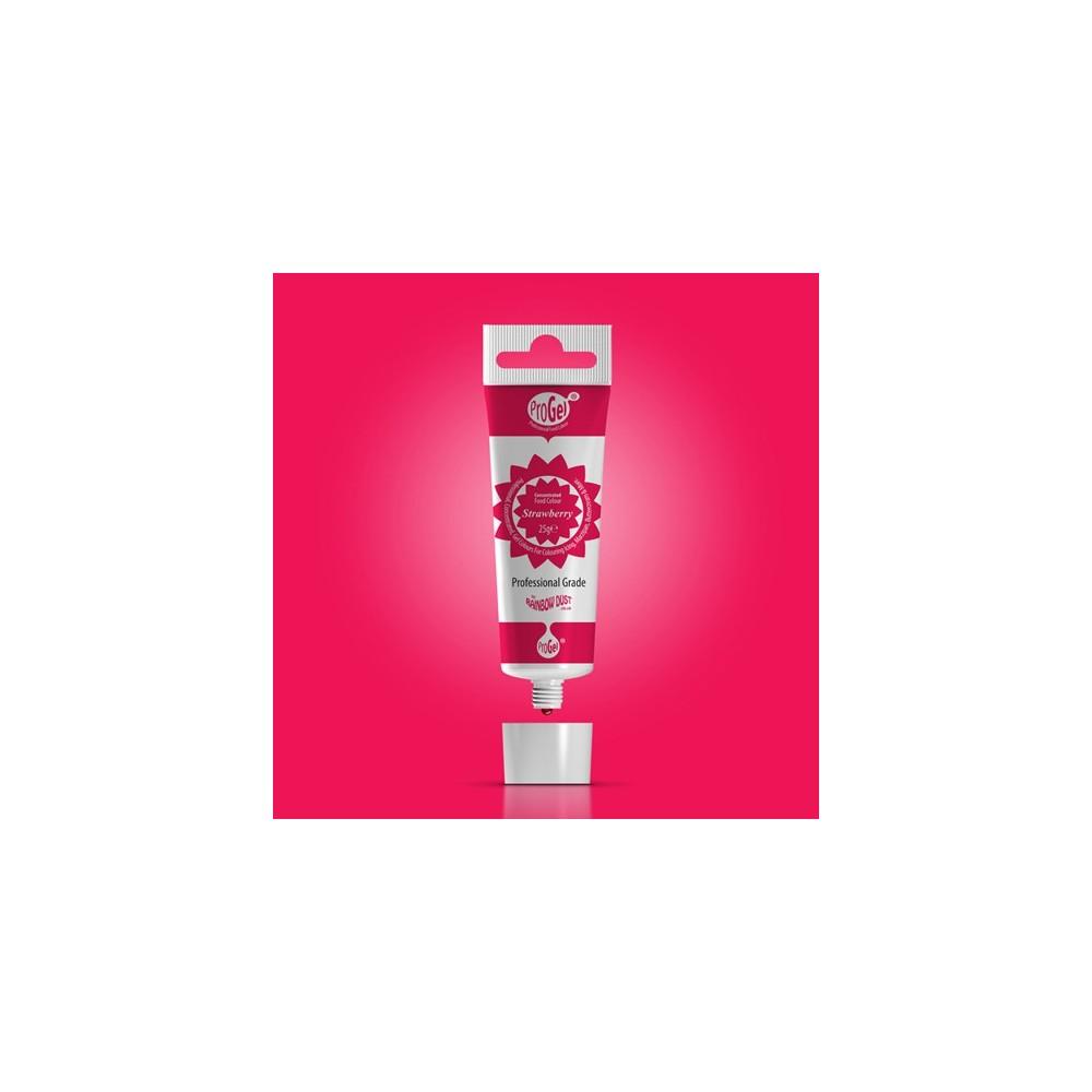 RD ProGel® - gelová barva - jahodová červená - Strawberry