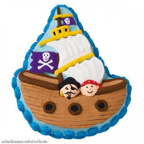 Dortová forma - Pirátská loď