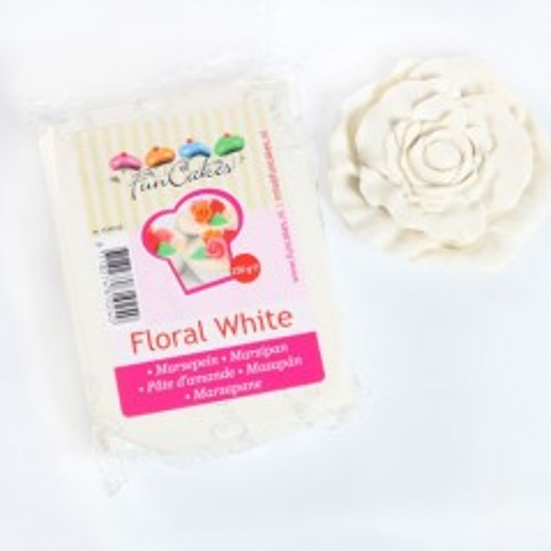 Funcakes marcipán Floral White - Bílý 250g