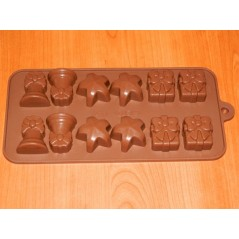 Silicon Chocolate Mould - Christmas