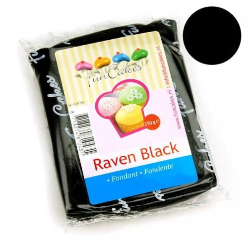 FunCakes potahový fondán Raven Black - černý - 250g