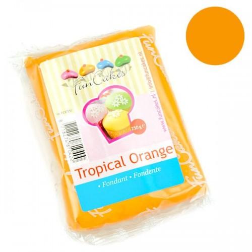 FunCakes poťahový fondán Tropical Orange - oranžový - 250g