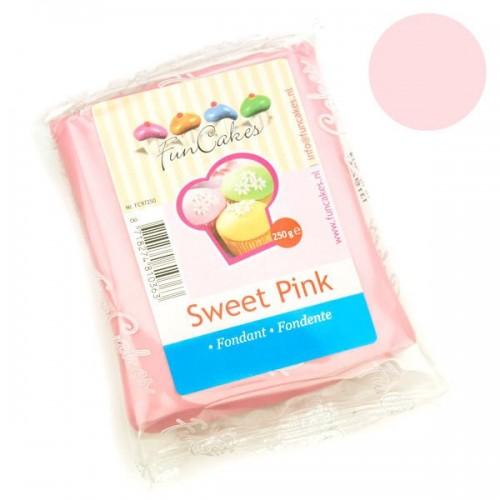FunCakes potahový fondán Sweet Pink - růžová Kittynka - 250g