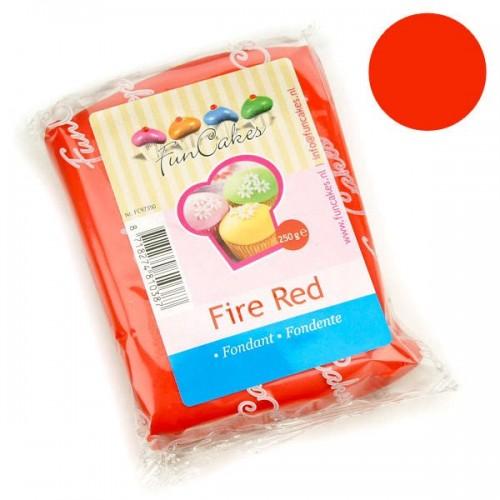 FunCakes poťahový fondán Fire Red - červený - 250g