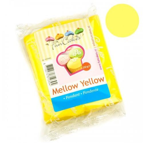 FunCakes potahový fondán Mellow Yellow - žlutý - 250g