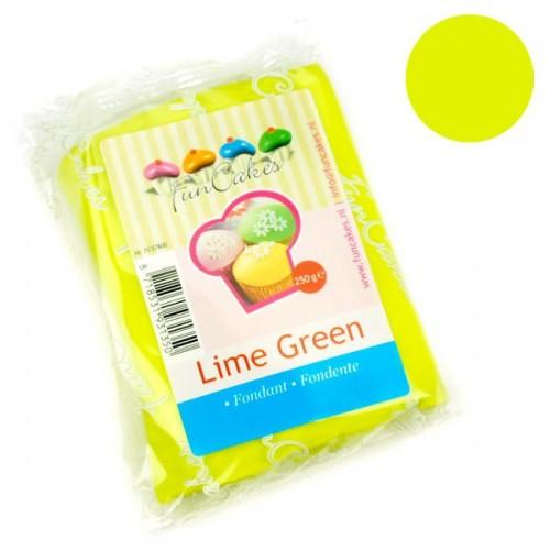 FunCakes potahový fondán Lime Green - limetkově zelený 250g