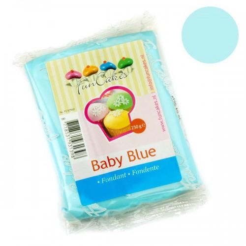 FunCakes potahový fondán Baby Blue - nebesky modrá 250