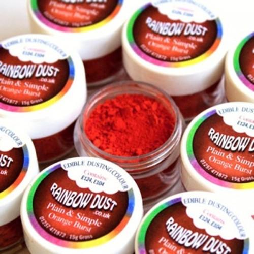 RD Prachová barva červenooranžová - Orange Burst 2,5g