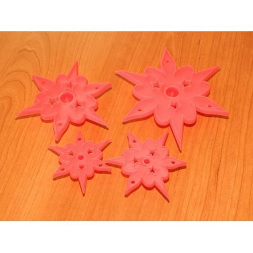 Sada formičiek - čipkovaná hviezdy