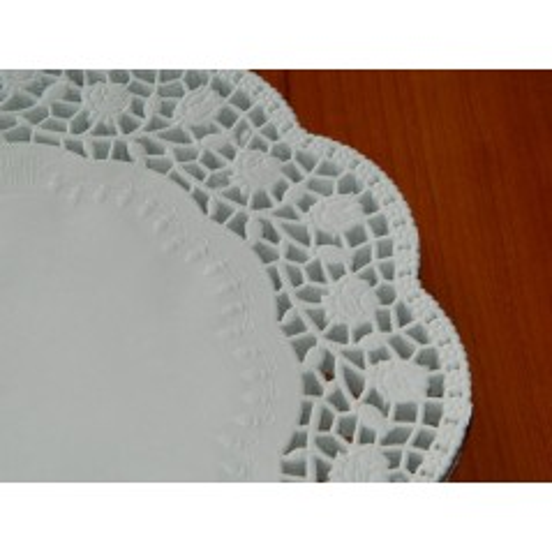 Papírové krajky pod dort 22cm - 10ks