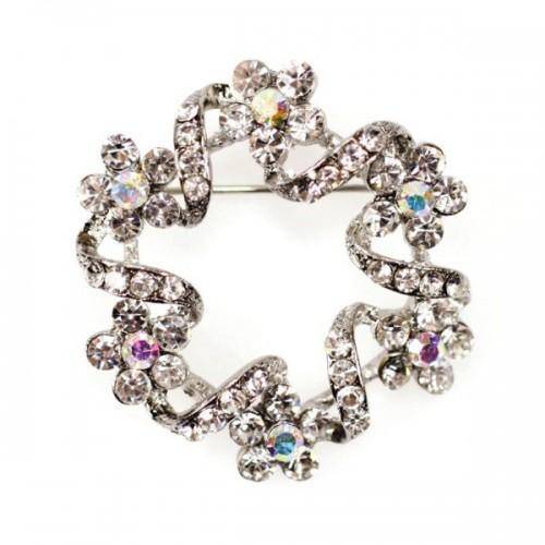 Diamante Brooch - Round 40mm