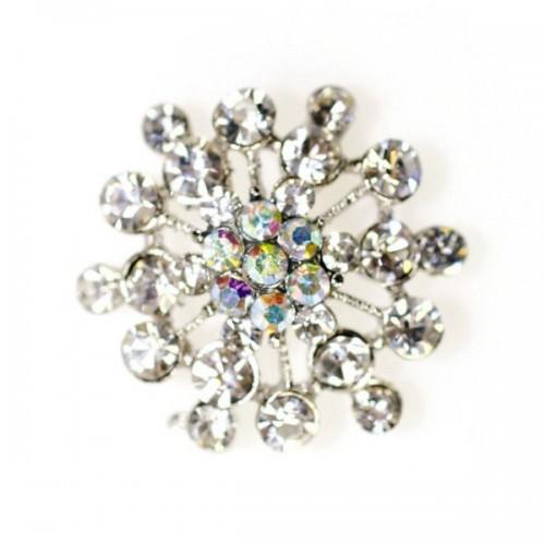 Diamantová brošňa - vločka - 32mm