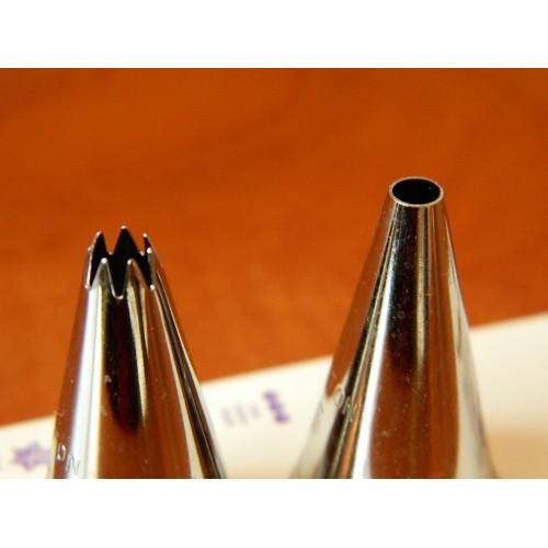 Wilton set trezírovacích špičiek - hladká č.5 + otvorená hviezda č.18