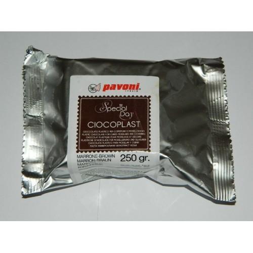 Pavoni Ciocoplast plastic chocolate brown 250g