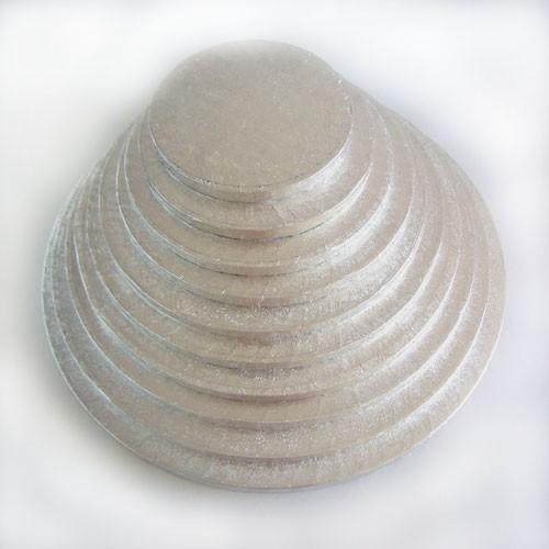 FunCakes podložka pod tortu strieborná 40cm / 1cm Kulatá