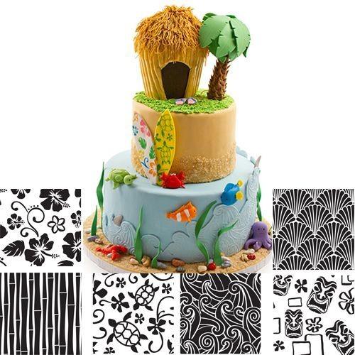 Hawaiian Texture Sheet - 6pcs