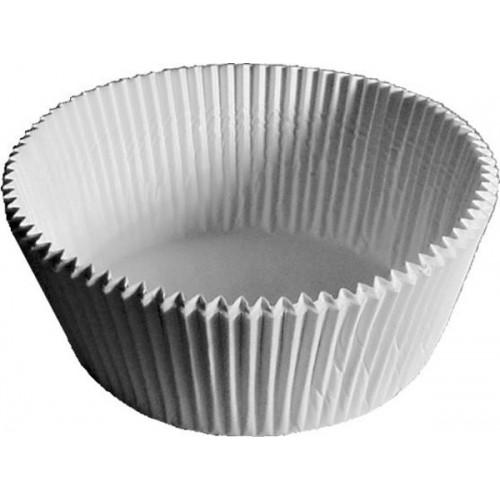 Cupcake baking liner 5 x 3,2cm - white - 100pcs