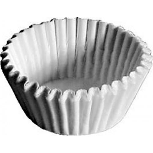 Cupcake baking liner 2,8 x 1,6cm - white - 100pcs