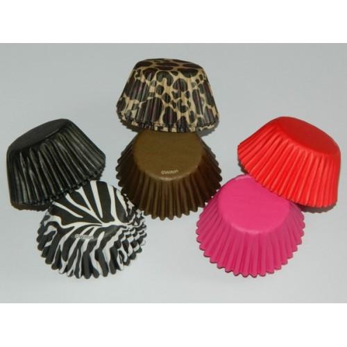 Wilton mini cukrárske košíčky - móda a zviera - 150ks
