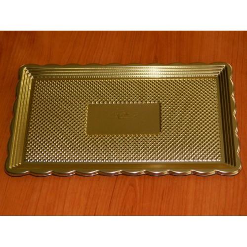 Alcas - umělohmotný tác pod dort - zlatý 37,5x28cm