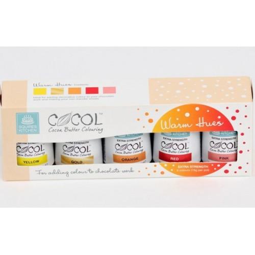 SK Professional COCOL Cocoa Butter Colouring - teplé odstíny 5ks