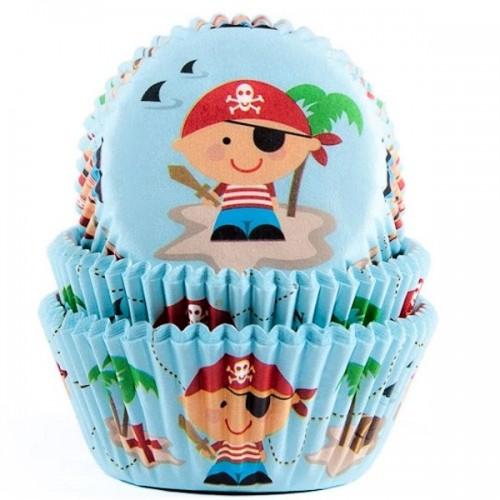 HoM Baking cups Pirate - pk/50